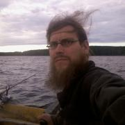 fishing on a windy evening
