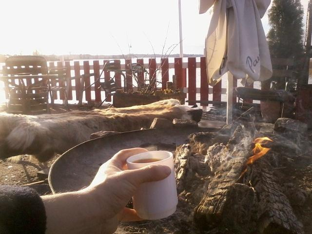 Coffee by seaside