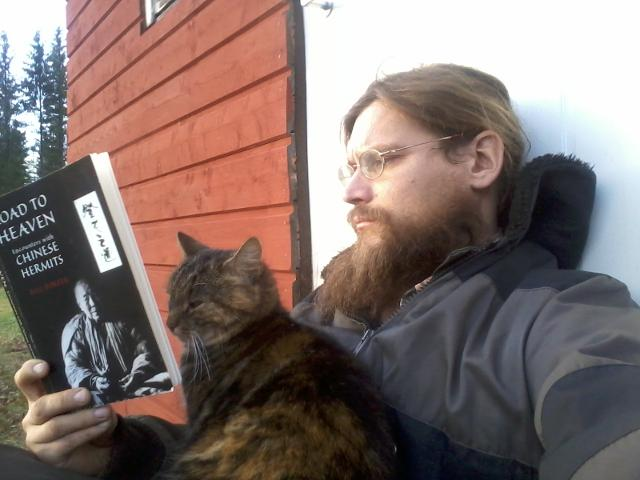 Reading with the cat