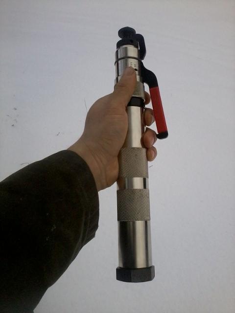 a stunbolt gun, unloaded