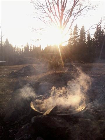 sunlight, steam and smoke