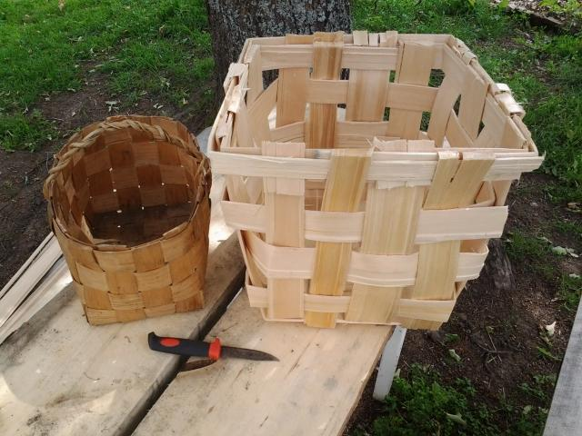a basket made by an old man, and my first basket