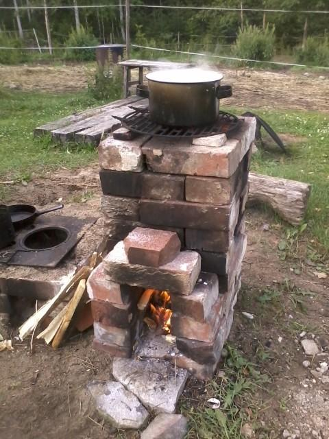A rocket stove