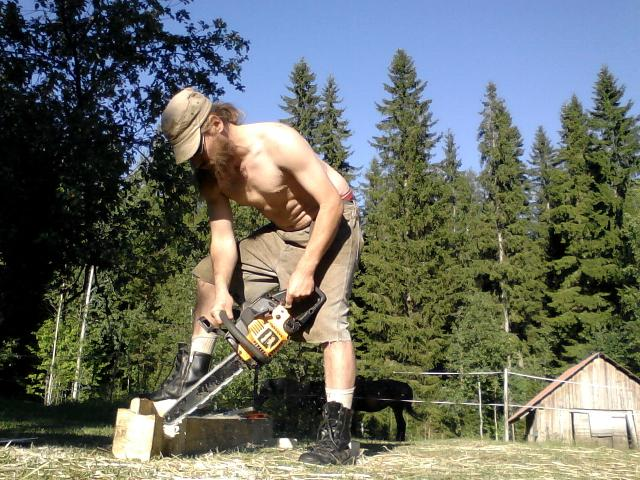 carving with a chainsaw