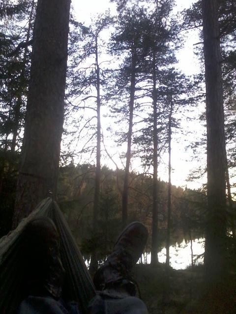 Testing my hammock