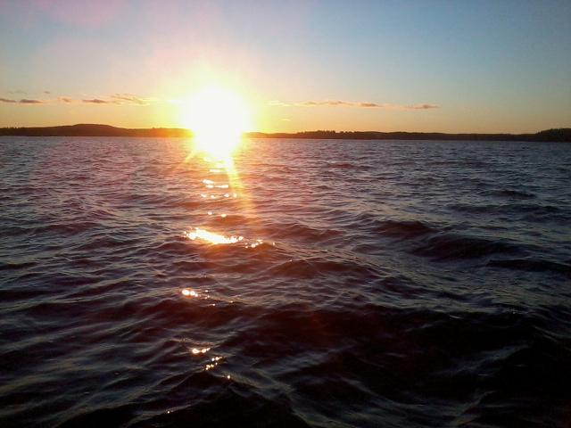 Sunset at Lake Paloselkä