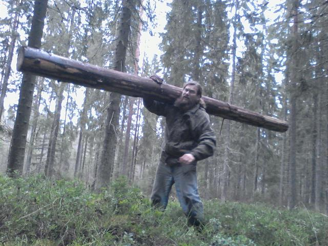 This is about the heaviest log I can carry