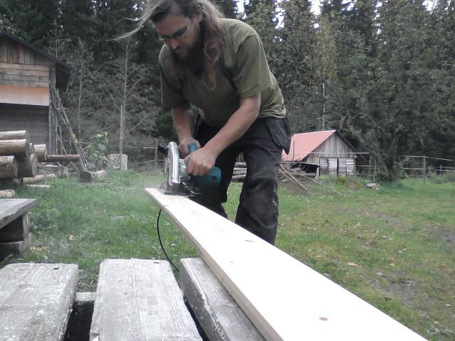 Trimming a floor plank