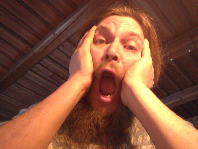 Erkka goes 'The Scream'