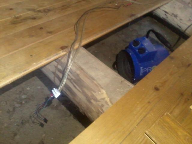 A hot air blower and a temperature sensor